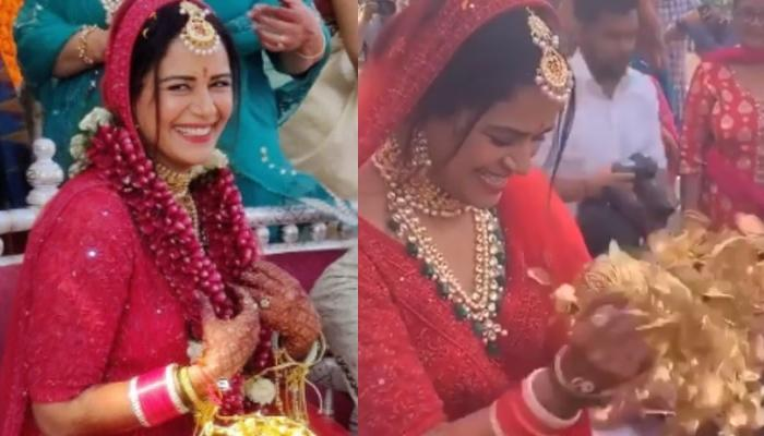 Mona Singh Gets Super Excited At Her Kaleera Ceremony, Looks Like The Happiest Bride