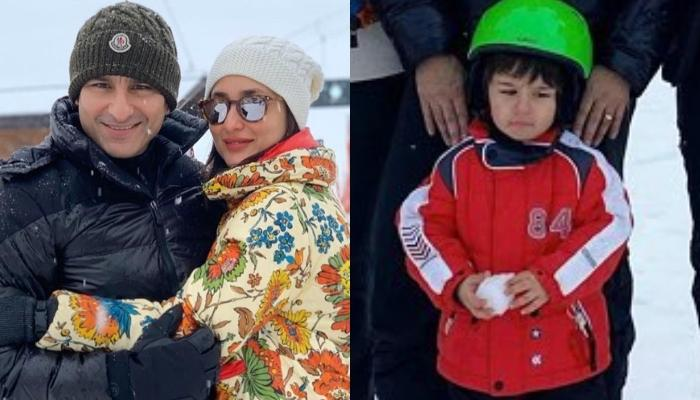 Taimur Ali Khan Enjoys Family Time In The Midst Of Snow In Switzerland, Makes Snowball