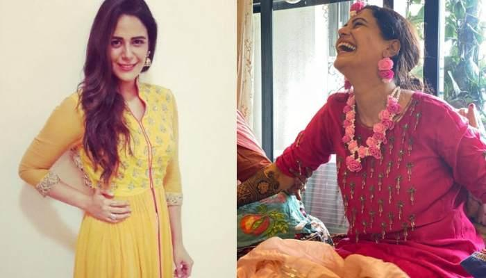 Mona Singh's First Look From Her Wedding, She Looks Ethereal In A Red Lehenga With Minimal Chooda