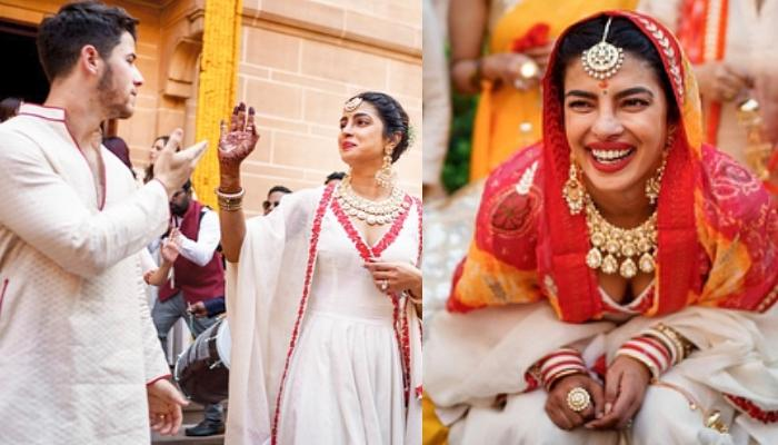 c185bc3884 Unseen Pictures From Priyanka Chopra's Chooda And Nick Jonas' Haldi  Ceremonies Are So Dreamy