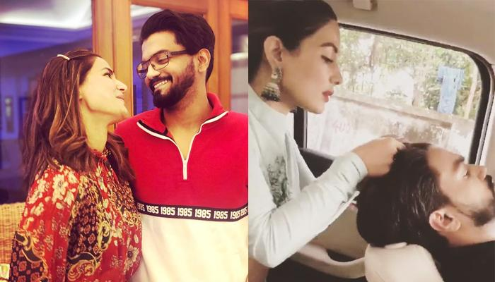 Hina Khan Turns A 'Personal Celebrity Hairstylist' For Her Boyfriend, Rocky Jaiswal, Video Inside