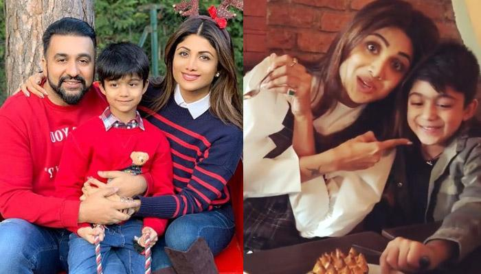 Shilpa Shetty Eats A Bite Of Son Viaan Raj Kundra's Dessert, His Expressions Were Priceless [VIDEO]