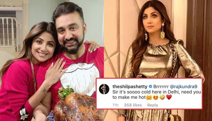 Shilpa Shetty Asks Hubby Raj Kundra To Make Her Hot As It's Cold In Delhi, He Gave A Kickass Reply