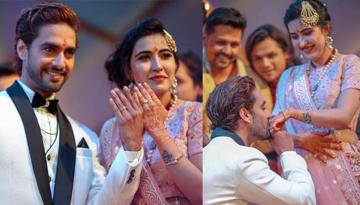 Unseen Pictures Of Sheena Bajaj And Rohit Purohit From Their Engagement, She Had Bent On Her Knees