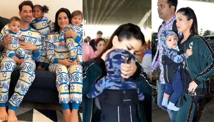 Sunny Leone Can't Stop Kissing Her Twin Baby Boys, Asher And Noah, It's Every Mom-Son PDA Ever