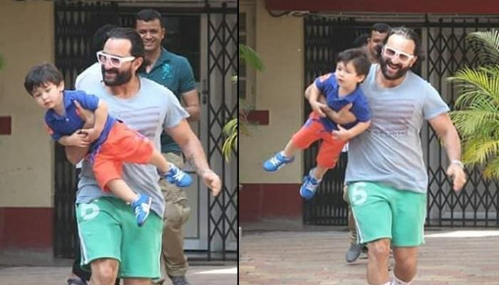 Taimur Ali Khan Turns Into An 'Airplane' For Abba, Saif Ali Khan, Enjoys Their Father-Son Playdate