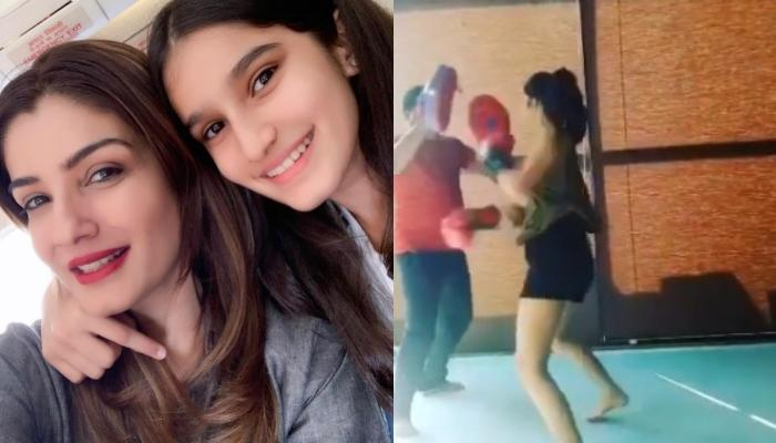 Raveena Tandon Shares A Video Of 'BayBee' Daughter Boxing Like A Pro, Says No One Messes With Her
