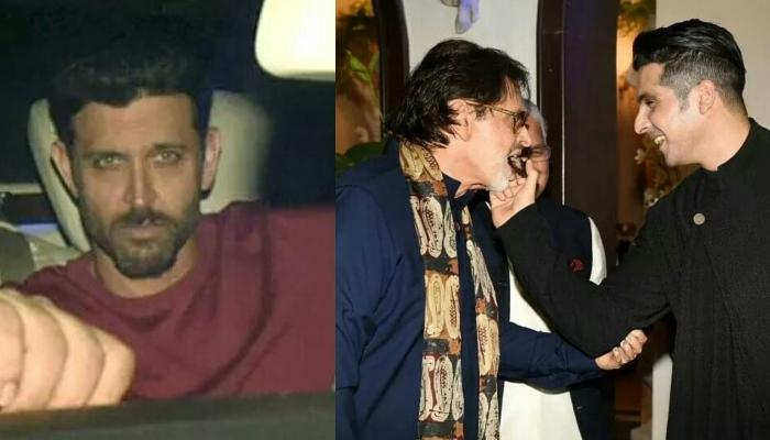 Hrithik Roshan Attends Ex-Wife Sussanne Khan's Father Sanjay Khan's Birthday Bash, Pictures Inside