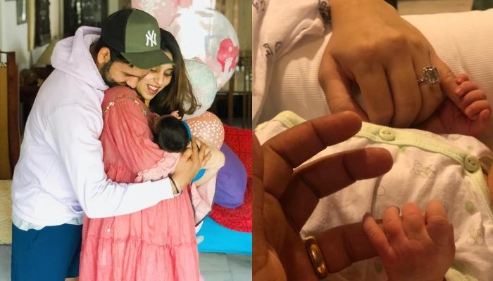 Cricketer Rohit Sharma Reveals New-Born Daughter's Name, Shares First Family Picture