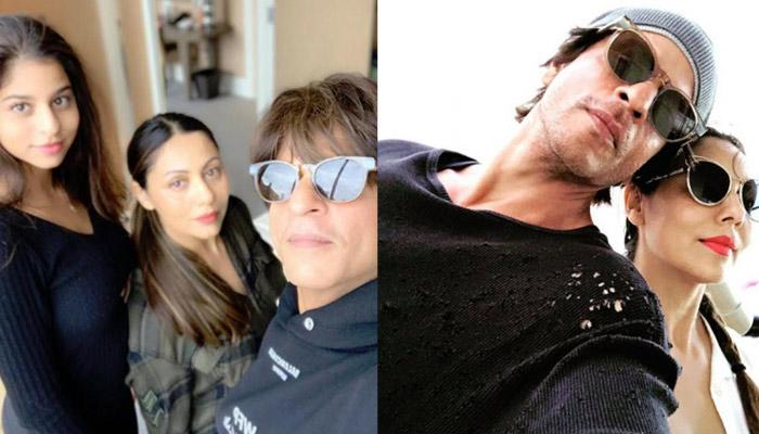 Shah Rukh Gets Peck On Cheeks From Gauri Khan And Suhana Khan, Wife Says He Deserves It On Most Days