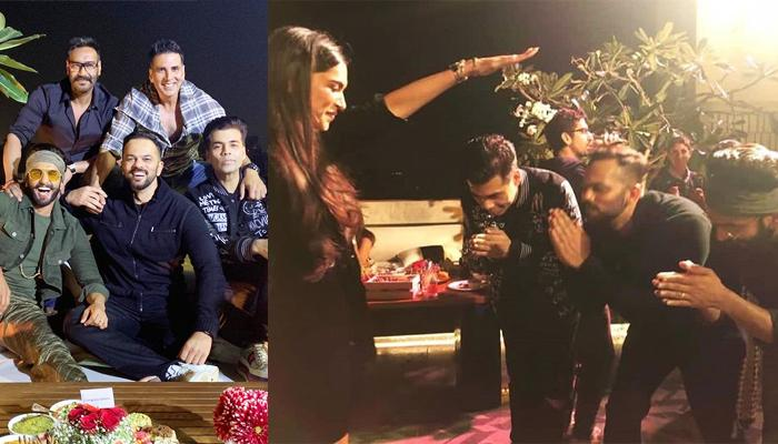 Deepika Padukone Blesses Ranveer Singh, Karan Johar And Rohit Shetty At Simmba's Success Party