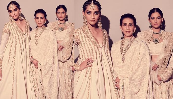 Sonam Kapoor Strikes A Pose With Mom Sunita And Sister Rhea As They Twin In Matching Ensembles