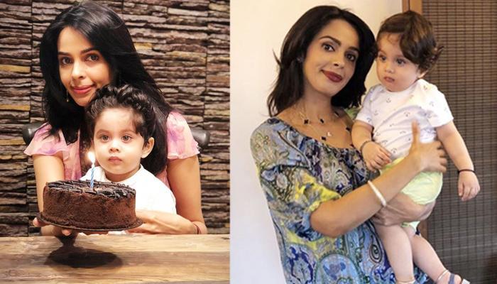 Mallika Sherawat Enjoys A Paino Session With Nephew-Cum-Internet Sensation, Ransher Lamba