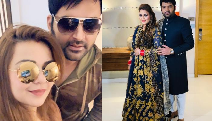 First Look Of Kapil Sharma And Ginni Chatrath From Their Royal Delhi Wedding Reception