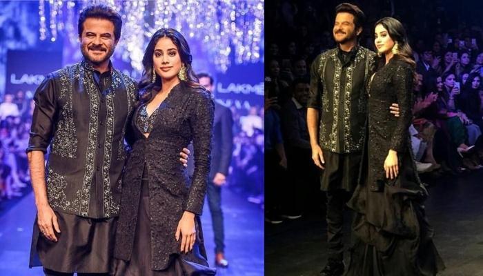 Janhvi Kapoor Walks The Ramp With Chachu Anil Kapoor At Lakme Fashion Week 2019