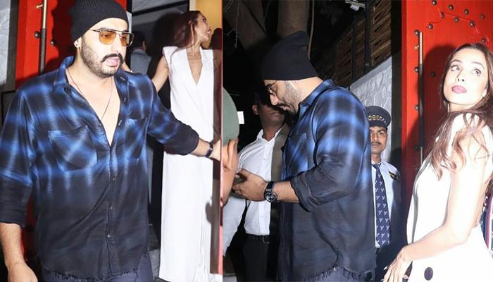 Arjun Kapoor Escorts Rumoured Girlfriend Malaika Arora Out Of Gauri Khan's Party, Video Inside