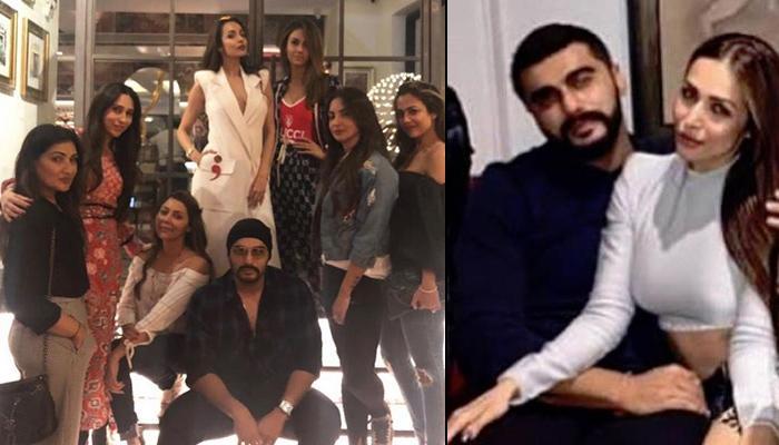 Arjun Kapoor Joins Malaika Arora On Dinner With 'Girl Gang' Gauri Khan, Amrita Arora, Karisma Kapoor
