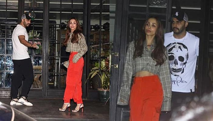 Arjun Kapoor And Malaika Arora Spotted On A Dinner Date, For The First Time Didn't Shy Away To Pose