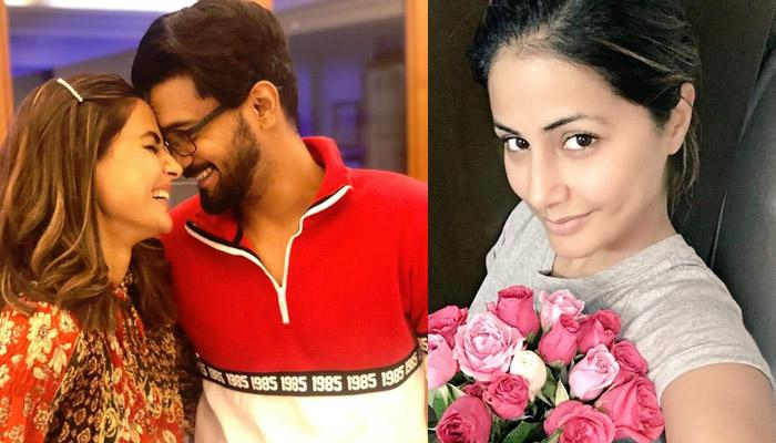 Rocky Jaiswal Surprises Hina Khan With Roses And Love Note But She