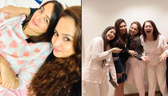 Surveen Chawla Enjoys Pyjama-Themed Baby Shower Ceremony During The Last Trimester Of Her Pregnancy
