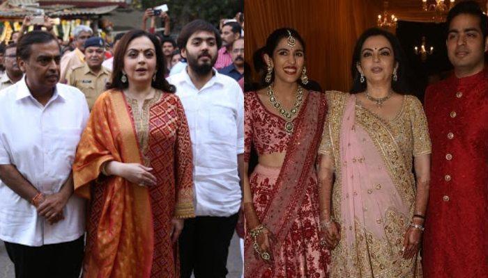 Nita Ambani, Mukesh And Anant Visit Siddhivinayak Temple To Present Wedding Invite Of Akash-Shloka