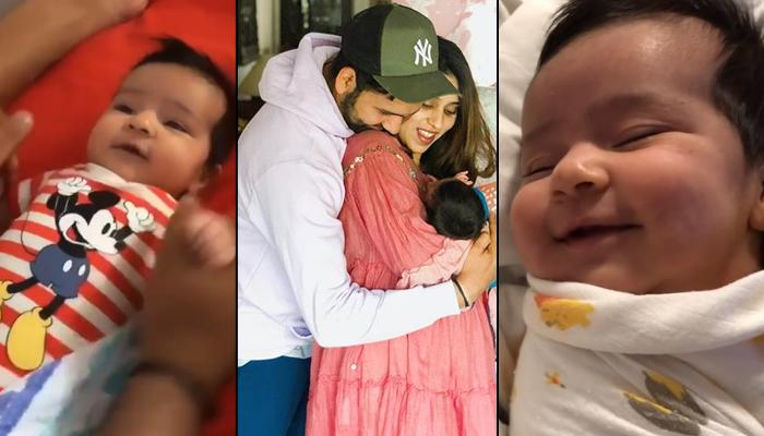 Ritika Sajdeh Shares Video Of 'Sleeping Beauty' Samaira Smiling, Rohit Sharma Plays With Little One