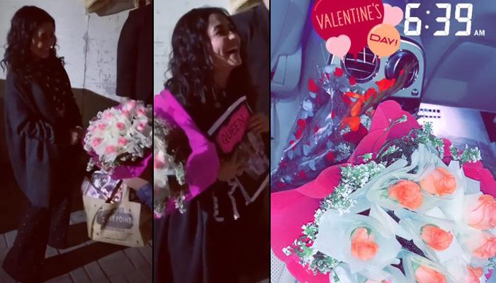 Neha Kakkar Gets Surprise On Valentine's Day, Her Reaction Is Unmissable As He Got Down On His Knees