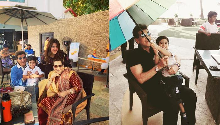 Tusshar Kapoor's Son, Laksshya Kapoor Holds Umbrella For 'Daadu' Jeetendra, It's So Adorable
