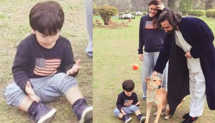 Unseen Picture Of Taimur Twinning With Kareena As They Chill With Saif Ali Khan At Pataudi Palace