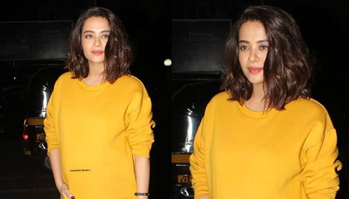 Heavily Pregnant Surveen Chawla Flaunts Her Baby Bump At Namrata Purohit's Music Video Launch