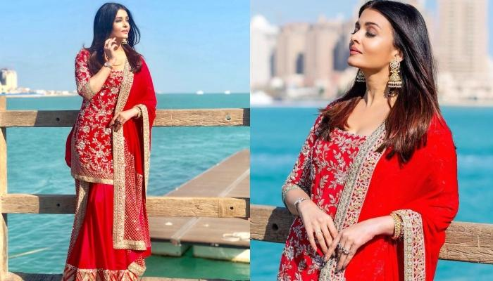 Aishwarya Rai Bachchan Dressed In A Bridal Red Outfit Makes Us Sing 'Tenu Suit Suit Karda'