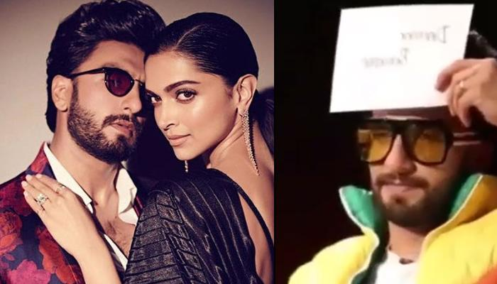Ranveer Singh Says 'Yeh Toh Meri Wali Hai' While Guessing His Wife Deepika Padukone's Name In A Game