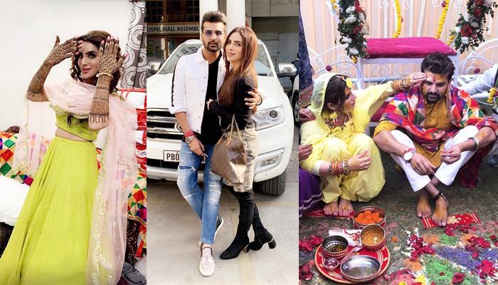 'Mariam Khan Reporting Live'Actress, Mansi Sharma And Yuvraj Hans' Pre-Wedding Ceremonies Pics