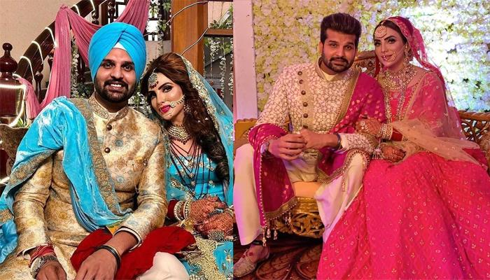 'Uttaran' Fame Mansi Sharma Gets Married To Yuvraj Hans, Twinned In Blue For Their Wedding