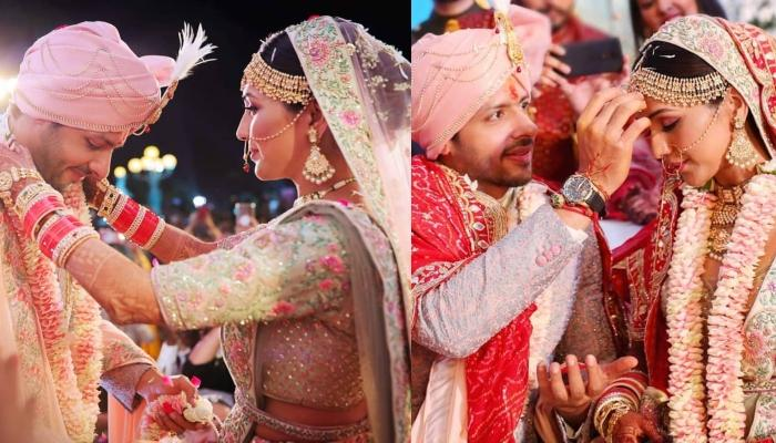 Unseen Pictures Of Neeti Mohan And Nihaar Pandya From Their Varmala And Sindoor Ceremony