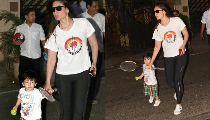Taimur Ali Khan Goes To Play Badminton With Mommy Kareena Kapoor Khan, Pics And Videos Inside