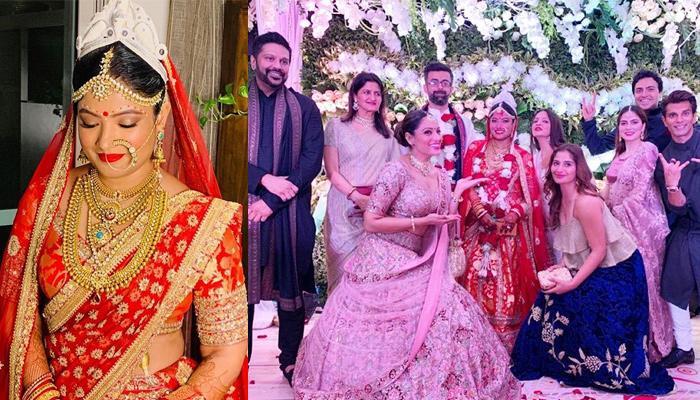 Vijayeta Basu Wears Sis, Bipasha Basu's Bridal Dupatta At Her Wedding, Looks Lovely As Bengali Bride