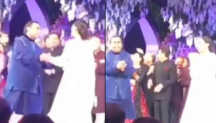 Mukesh Ambani And Mona Mehta Dance On Samdhi-Samdhan Song At Akash Ambani-Shloka Mehta's Sangeet