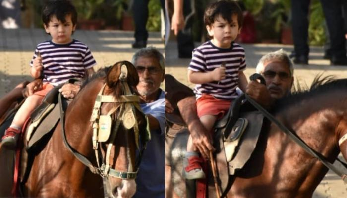 Taimur Ali Khan Is Back To Horse Riding And His Grumpy Expression Is Winning Our Hearts
