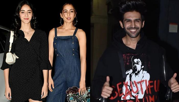 Ananya Panday Gets Her 'Dream Date' With Kartik Aaryan And Sara Ali Khan At  'Luka Chuppi' Screening