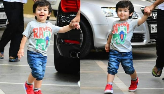 Taimur Ali Khan Is All Smiles For The Paparazzi  As He Gives His Daily Dose Of Cuteness