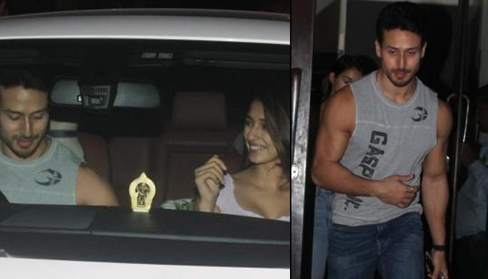 Disha Patani And Tiger Shroff Can't Stop Blushing Post Their Dinner Date, All Smiles For The Cameras