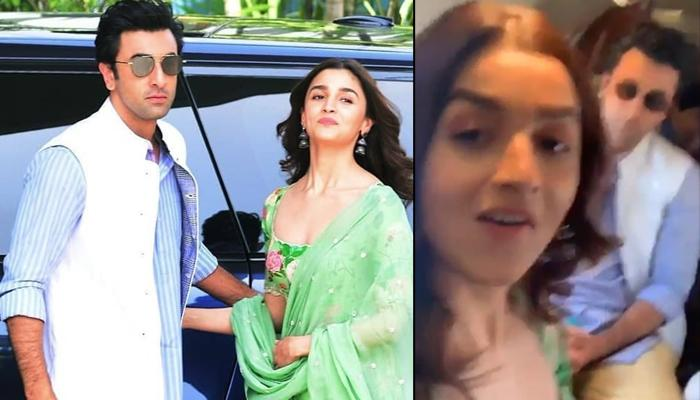 Alia Bhatt Forces Boyfriend Ranbir Kapoor To Show His Dimples, He Replies Back With A Blush [VIDEOS]