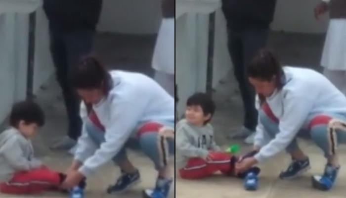 Kareena Kapoor Khan Helps Her Son, Taimur Ali Khan Put On His Shoes, Here's How Fans Reacted [VIDEO]
