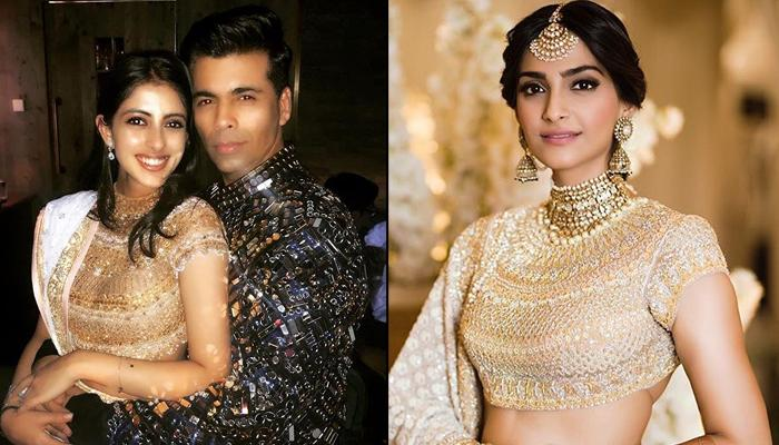 Navya Nanda Wore A Similar Lehenga As Sonam Kapoor, At Akash Ambani-Shloka Mehta's Pre-Wedding Bash