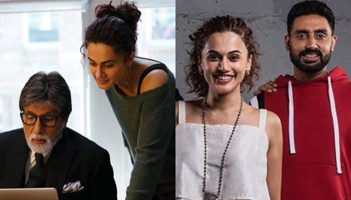 Taapsee Pannu Reveals One Thing Common Between Both Of Her Co-Stars, Amitabh And Abhishek Bachchan