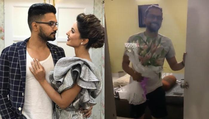 Rocky Jaiswal's Small Surprise For Hina Khan On Women's Day, But She Had Already Sensed It [VIDEOS]