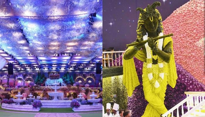First Pictures And Videos Of Decor From Inside The Venue Of Akash Ambani-Shloka Mehta's Wedding