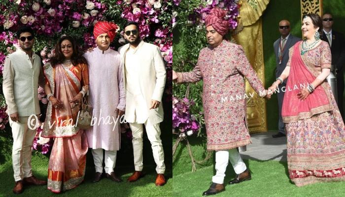Anil Ambani Arrives With Wife Tina Ambani And Sons At Akash Ambani-Shloka Mehta's Wedding