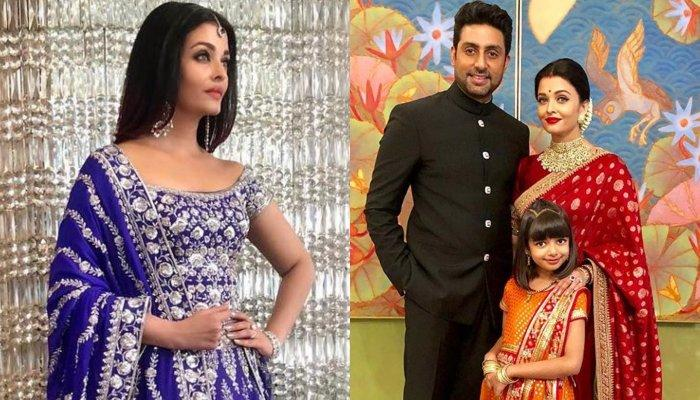Aishwarya Rai Bachchan Aaradhya And Abhishek Look Lovely In Ethnic